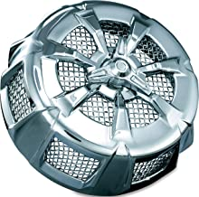 Kuryakyn 9439 Alley Cat Air Cleaner/Filter Cover for 1999-2017 Harley-Davidson Motorcycles, Chrome