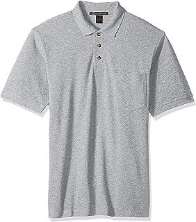 4c7535c3f Harritton Men s Hart-m200p-ringspun Cotton Piqué Short-Sleeve Pocket Polo