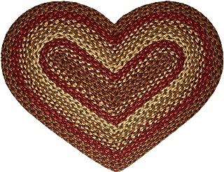 IHF Home Decor Heart Shaped Braided Rug 20
