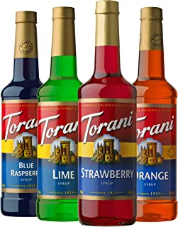 Torani Syrup Variety Pack, Soda Flavors, 25.4 Ounces (Set of 4)