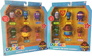 Hey Duggee Basic & Super Figure Pack Bundle -- 12 figures with two badges