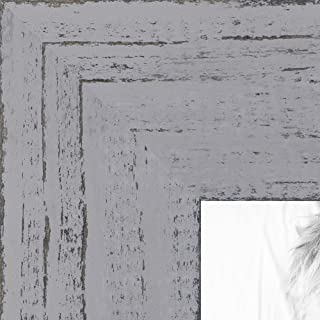57d28a0c6ded ArtToFrames 16x20 inch Weathered Barnwood in Saturated Grey Wood Picture  Frame