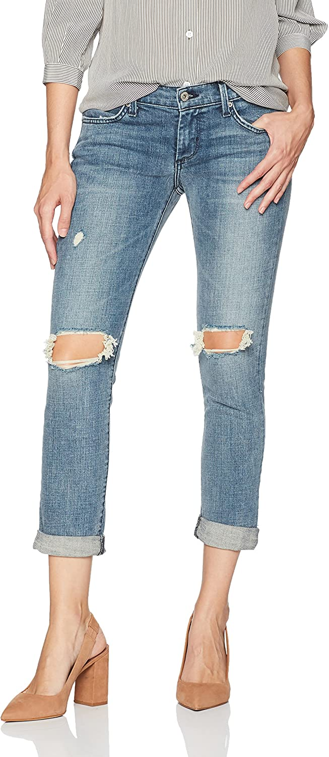 James Jeans Womens Neo Beau Girlfriend Jean in Heritage Jeans