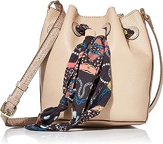 Drawstring Bucket Bag with Scarf