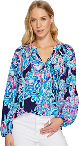 cfc991a9813ed8 Lilly pulitzer elsa top turquoise lets cha cha at 6pm.com