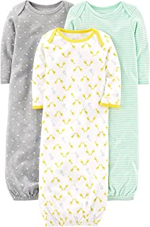 Baby 3-Pack Neutral Cotton Sleeper Gown