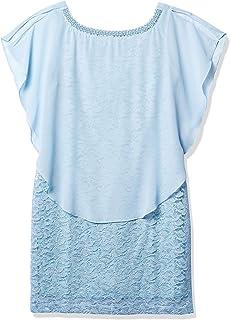 فستان نسائي من Sandra Darren قطعة واحدة بدون أكمام مع قلادة من اللؤلؤ