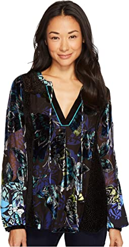 Hale Bob - Take Wing Velvet Burnout Top