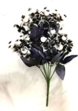Badshah's Artificial Flower White goli Medium Sized Bunch for Home décor and Gifting Purpose(12 Heads)(L*B*H)(20 * 20 * 40cm)