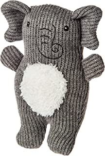 Mary Meyer Knitted Nursery Rattle Soft Toy, 7-Inches, Elephant