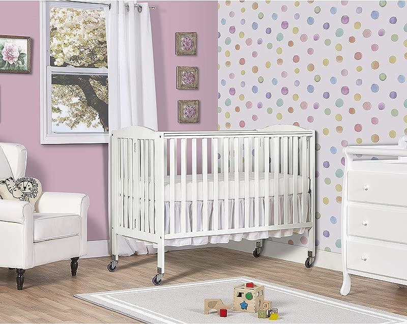 Dream On Me Folding Full Size Convenience Crib White
