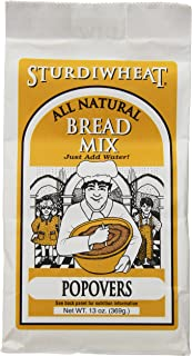 Sturdiwheat All Natural Bread Mix, Popovers, 13-Ounce Package (Pack of 4)
