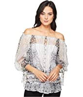Hale Bob - Force of Nature Washed Silk Georgette Off the Shoulder Top