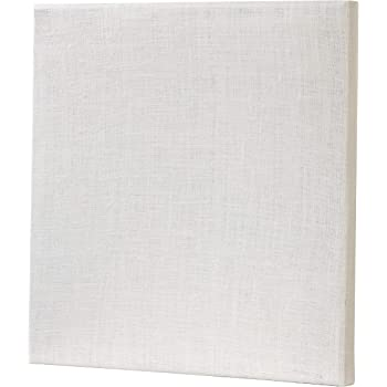 ATS Acoustic Panel 24x24x2 Inches, Beveled Edge, in Ivory