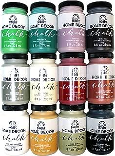 FolkArt Home Decor Chalk Finish Paint Set (8 Ounce), PROMO845 (12-Pack)
