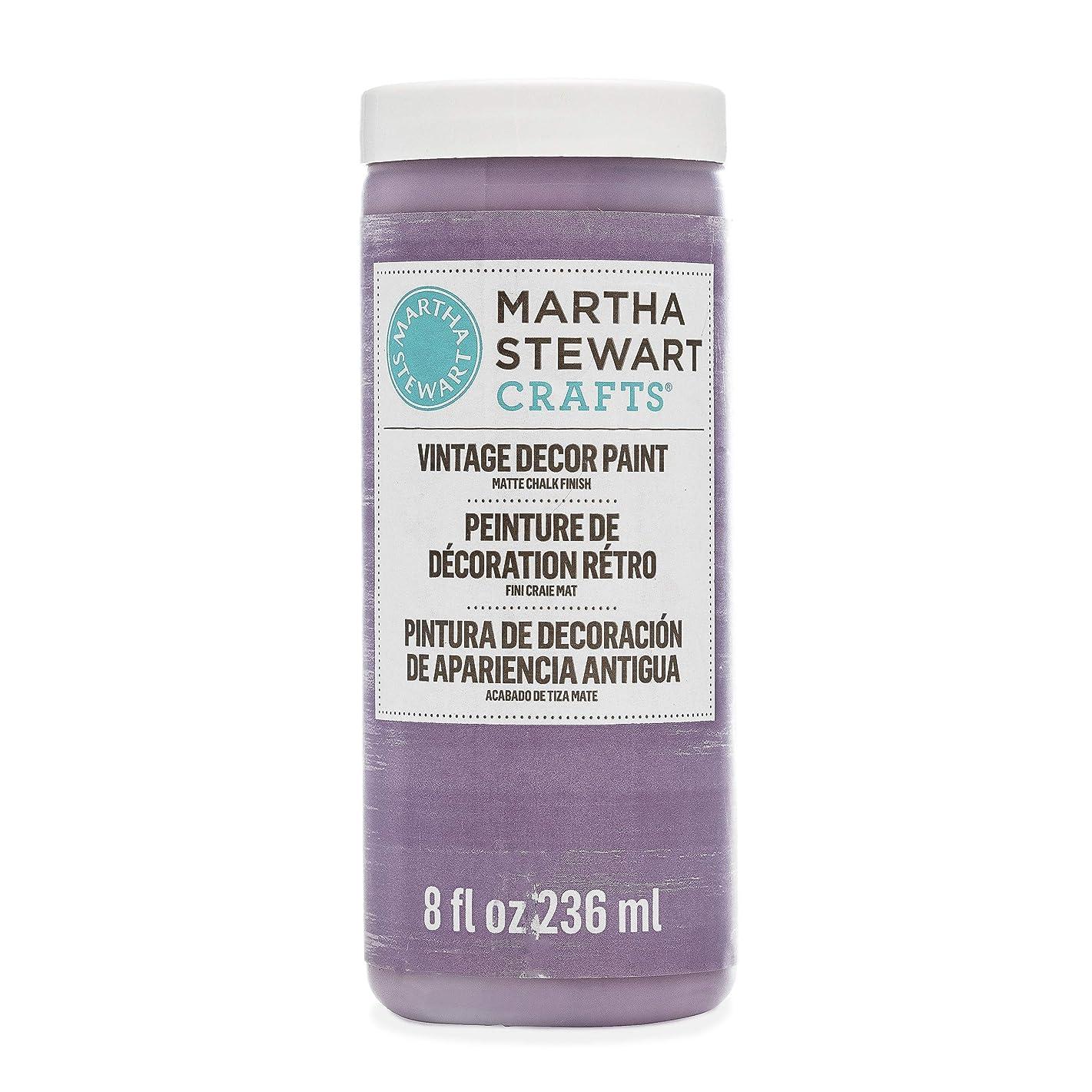 Martha Stewart Crafts 33528 Martha Stewart Vintage Decor Matte Chalk Purple Dusk, 8 oz Paint,