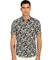 Marc Jacobs - Layered Leaf Slim Short Sleeve Button Up