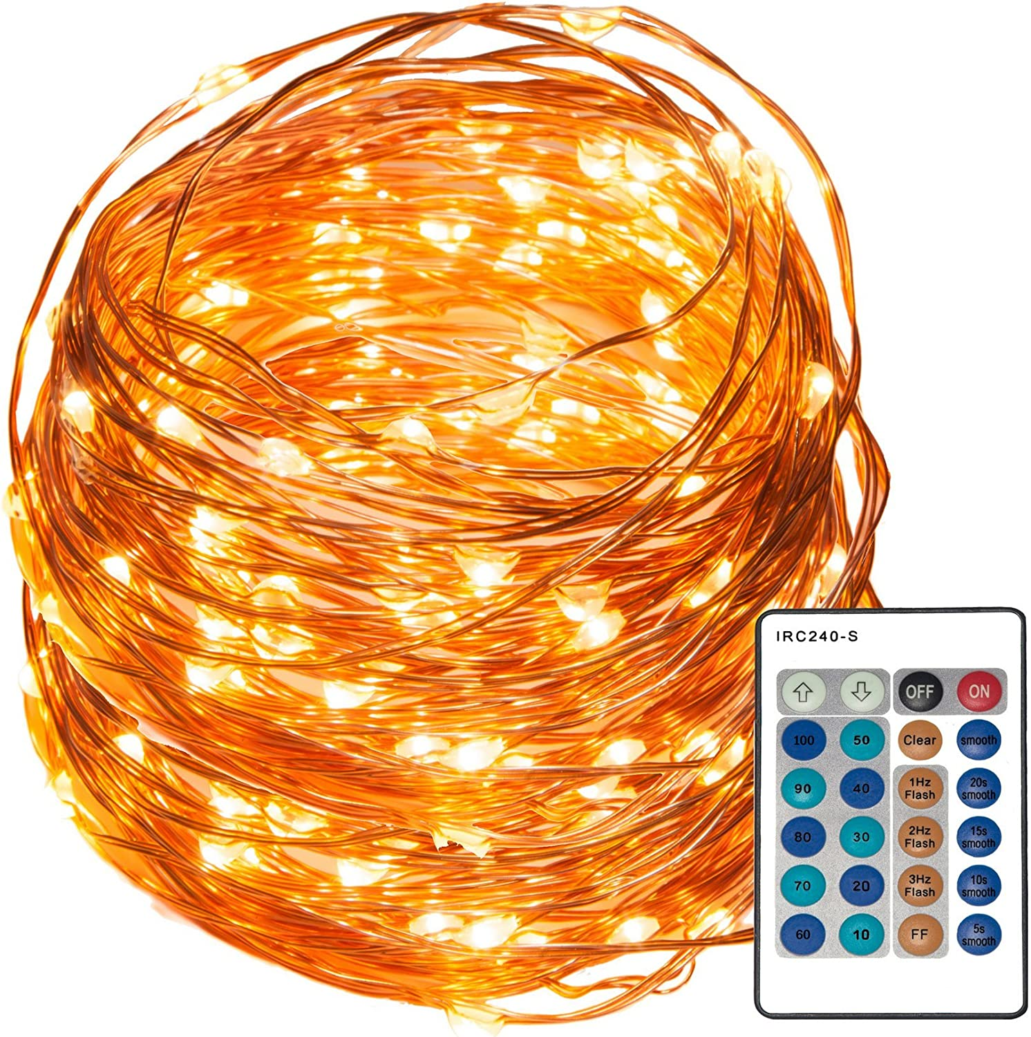REMZES Starry String Large discharge sale Lights: 33 Foot Copper 100 Wire Las Vegas Mall with Strand