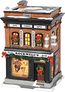 Department56 Original Snow Village Norman Rockwell's 5 and 10 Lit Building, 7.75