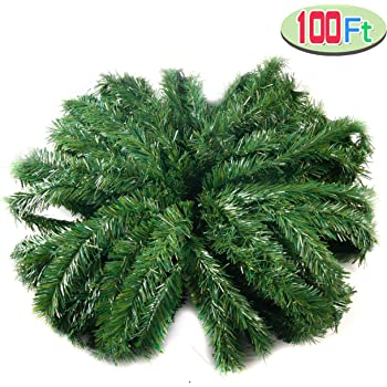 100-Feet by 12-Inch Vickerman Canadian Garland Pine Green