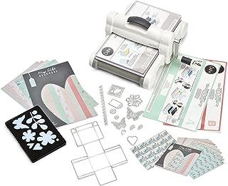 Sizzix Big Shot Starter Kit 661546, máquina de corte y repujado manual con troqueles Bigz L, Thinlits y Framelits Plus, cartulina y tela, tamaño A4 (21 cm)
