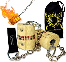 Classic Pro Fire Poi Set - 2x65mm Wicks by Flames N Games + Travel Bag!