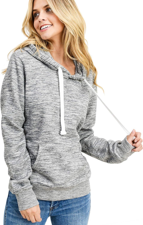 esstive Women's Ultra Soft Fleece Comfortable Basic Active Lounge Lightweight Casual Solid Pullover Hoodie Sweatshirt