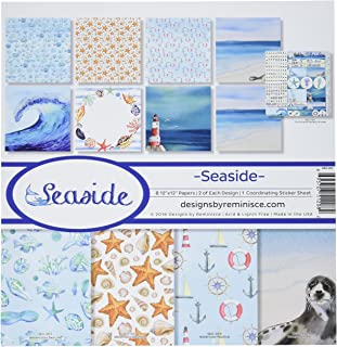 Reminisce Collection Kit x 12-inch-Seaside, Other, Multicoloured, 0.15x30.48x34.29 cm