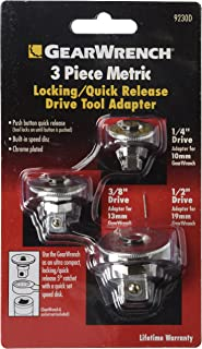 GearWrench 9230 3 Piece Metric Ratcheting Wrench Drive Adapter Set