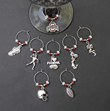 Set of 6 Handmade Mixed Charms Wine Glass Charms FREE P/&P