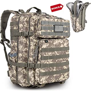 Military Tactical Backpack Army 3 Day Assault Pack Molle Bag Rucksack for Outdoor Hiking Trekking Hunting