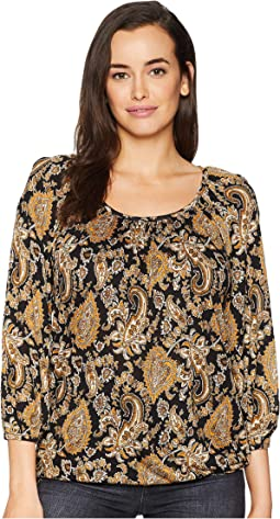 Sweetheart Paisley Peasant Top