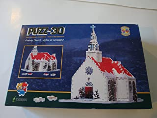 Wrebbit Puzz-3D Three Dimensional Jigsaw Puzzle 254 Pieces Country Church