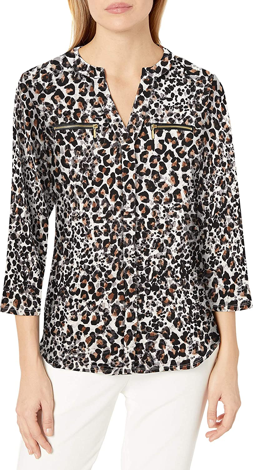 Nanette Lepore Women's Knit Tunic Zippers W OFFicial Max 67% OFF