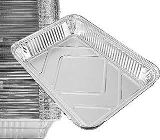 35 Pack - Aluminum Pans, Durable Chafing Pans, Half Size Roasting Pans - Disposable Aluminum Foil Steam Table Deep Pans, Buffet Pans Size - 10