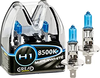 Gread – 2x H1 Halogen Birne Xenon Optik – superweiss – 8500k 55W..