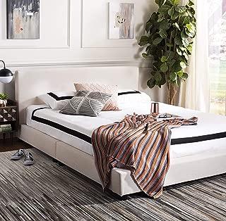 Safavieh Carter Bed, Full, Light Beige
