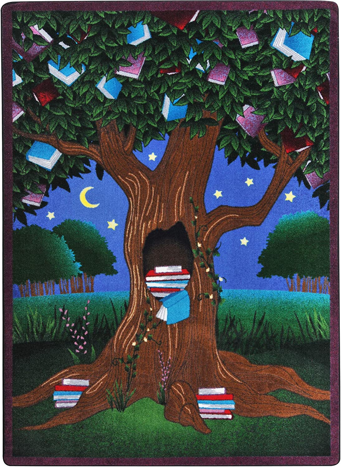 Joy Carpets Reading Tree Fees free Childrens Multicolor Ranking TOP10 D Rugs