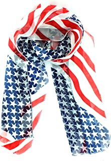 Patriot Pride Red White and Blue USA Stars and Stripes Scarf
