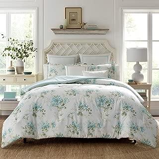 Laura Ashley Honeysuckle Comforter Bonus Set, Twin, Blue