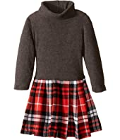 fiveloaves twofish - Little Red Flannel Dress (Toddler/Little Kids/Big Kids)