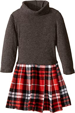 fiveloaves twofish - Little Red Flannel Dress (Toddler/Little Kids/Big Kids)