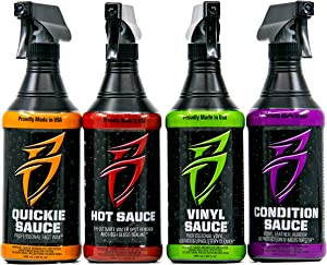 Bling Sauce Cleaning/Detailing Kit for Cars, Boats, RV, Motorcycles-4-Pack, 20 oz Each