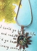Smiling Wisdom - Sun Paua Shell Necklace, Ordinary Summary Day Gift Set - Abalone Shell Sun Pendant - Daughter, Friend, Sister - Acknowledgment, Appreciation, Renew - Valentine, Birthday, Keepsake