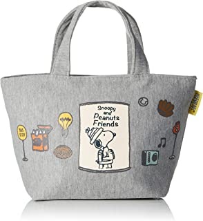SKATERS (SKATER) Peanuts Snoopy Lunch Bag S Tote Bag Sweat Fabric Snoopy Friends KNB1