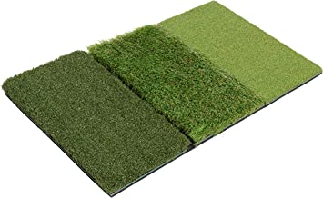 Milliard Golf 3-in-1 Turf Grass Mat Foldable Includes Tight Lie, Rough and Fairway for Driving, Chipping, and Putting Golf Practice and Training - 25x16 inches.