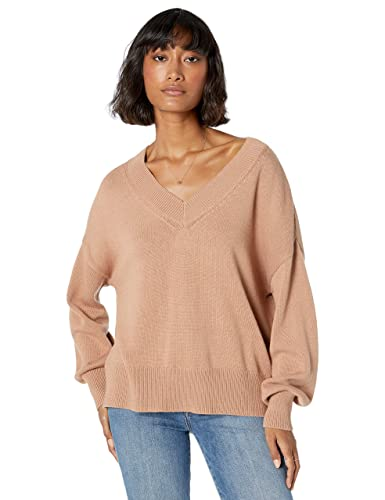 The Drop Women's Lisa Soft Slouchy V-Neck Sweater