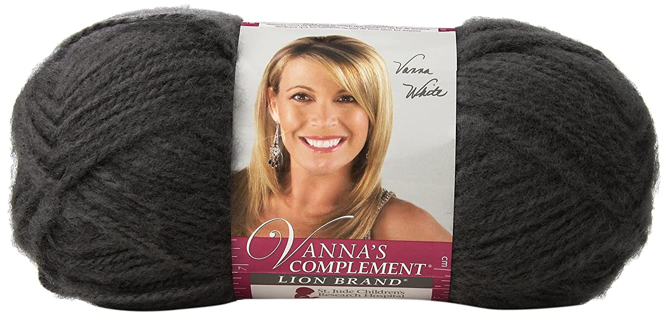 Lion Brand Yarn 866-151 Vanna's Complement Yarn, Charcoal Grey