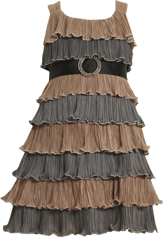 Bonnie Jean Big Girls' Tiered Crinkle Dress