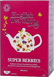English Tea Shop Superberries 20 Sachet Tea Bags, 30 Gram (Pack of 6)